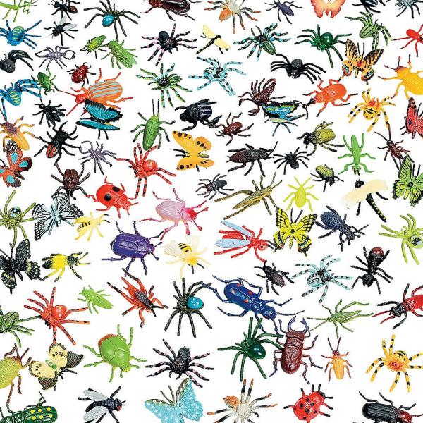 30 Krabbelkäfer im Set für die Dschungelparty, Halloween oder Gespensterparty Käfer Spinnen
