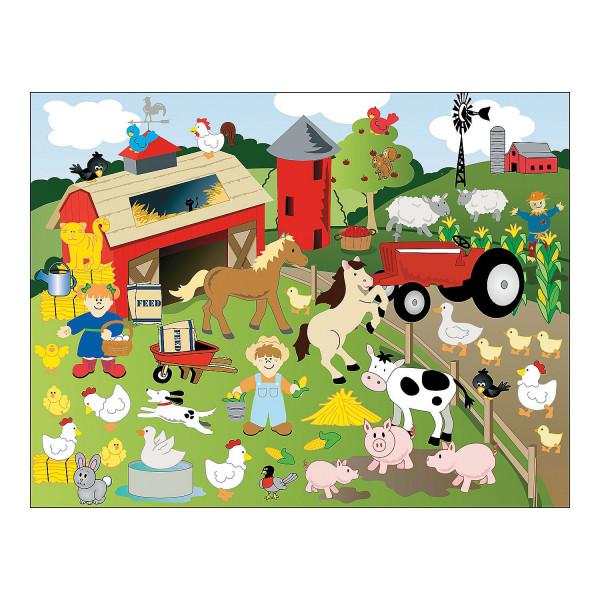 12 x Bauernhoftiere Bauernhof Klebebilder Tiere Sticker Aufkleber Farm Mitgebsel Geburtstagsparty