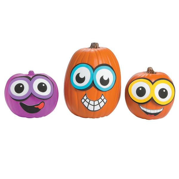 Halloween Kürbis Deko Dekoration Set Kit / Kürbis schnitzen gestalten Aufkleber