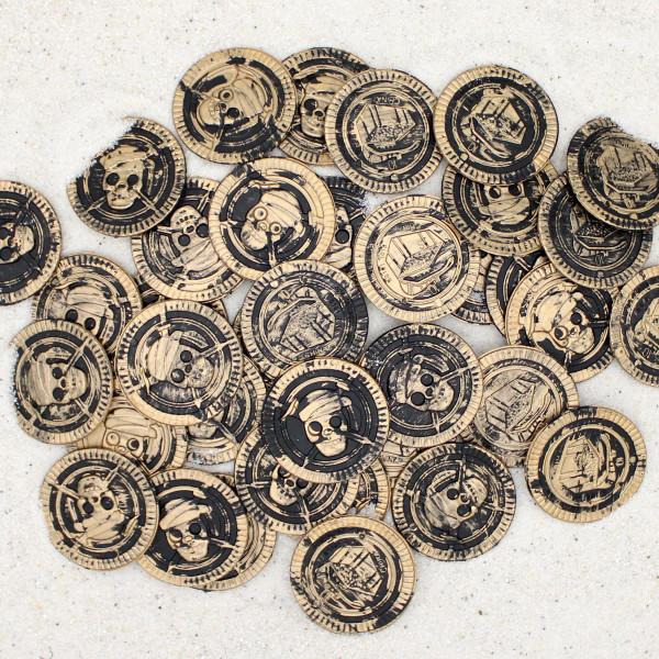 144 Taler Piratengeld Goldschatz Goldtaler Goldmünzen Piraten Piratenparty Schatzsuche Piratenschatz