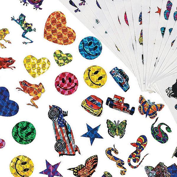 140 x Sticker Aufkleber Glitzer Kindergeburtstag Kinderparty Smiley Mitgebsel