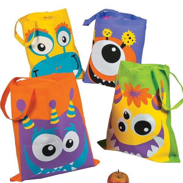 6 x Monster Monsterparty Kinder Tasche Beutel Halloween Gruselparty Geburtstag Give Away Kindergebur