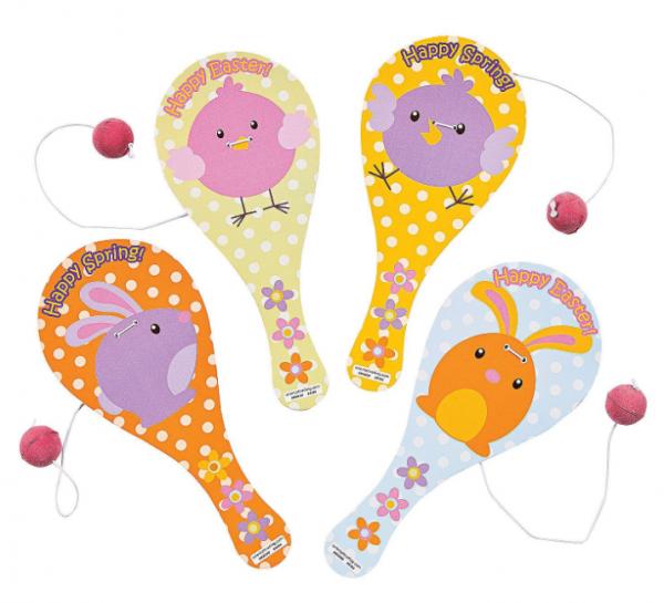 6 x Paddleball Ostern Geschicklichkeitsspiel für Ostern