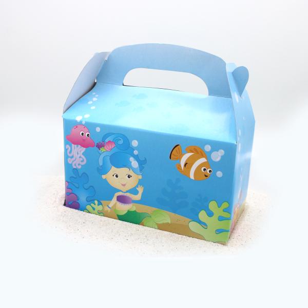 6 x Meerjungfrau Box Geschenk Tüte Meerjungfrauenparty Mitgebsel Geschenktüte Kindergeburtstag