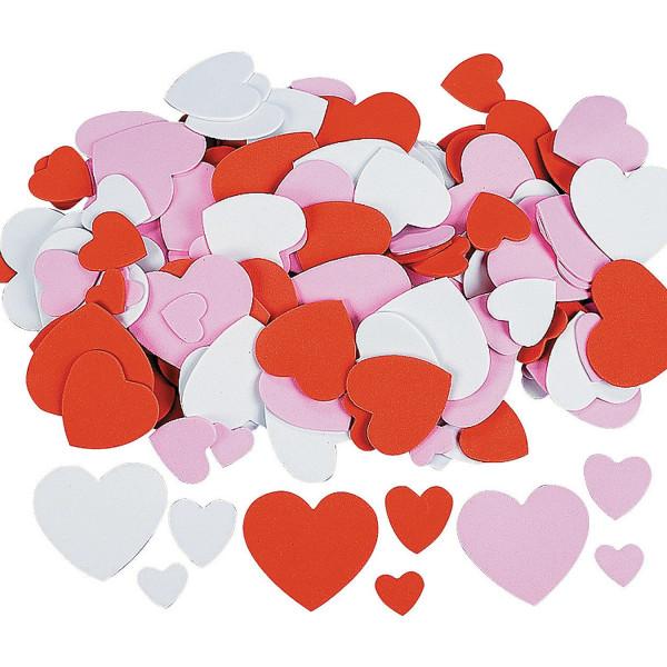 200 x große Herzen Moosgummi Valentinstag Deko Hochzeit Heiratsantrag Liebe Romantik Taufe