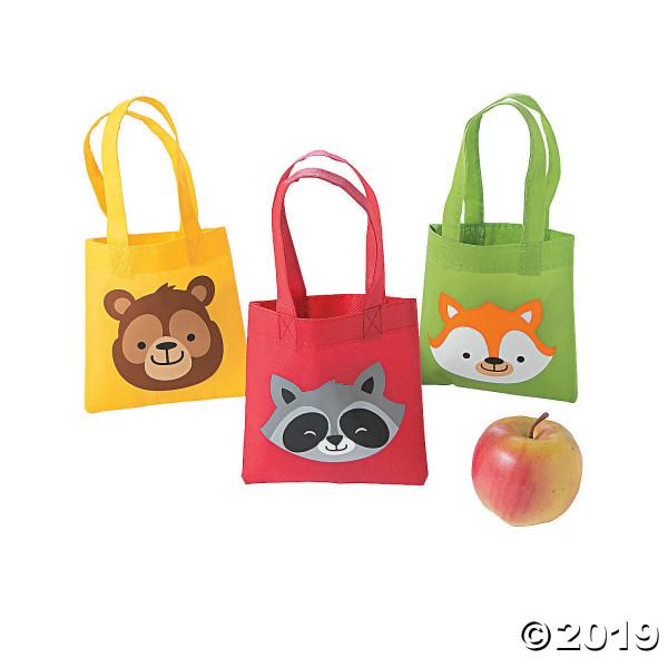 6 x Beutel Tasche Tiere Wald Fuchs Bär Waschbär Kindergeburtstag Feier Party