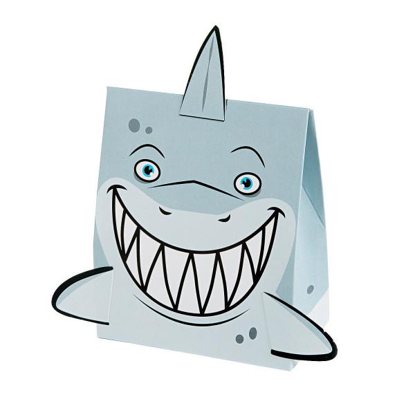 6 x Geschenkbox Hai Mitgebsel Shark Geburtstagstüte Piraten Kindergeburtstag Piratenparty Giveaway