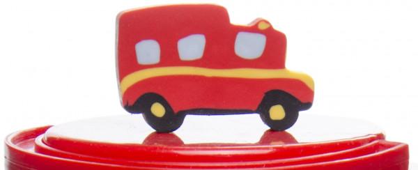 12x Radiergummi Feuerwehrauto - Radierer für Abenteurer und Helden - Mitgebsel zum Kindergeburtstag