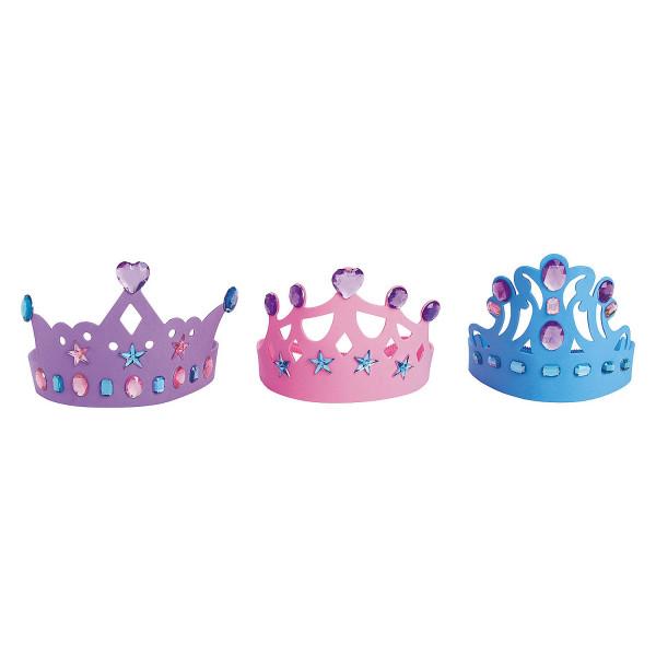 12 x Krone Eisprinzessin Prinzessin Geburtstag Kindergeburtstag Prinzessinnenparty