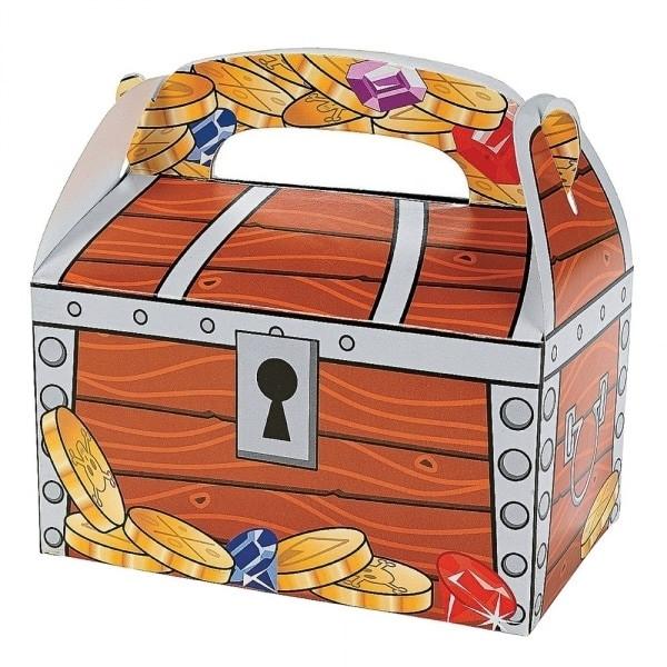 2 x Schatzkiste für Piraten Faltbox für die Piratenparty Geschenkbox Schatz Schatzsuche