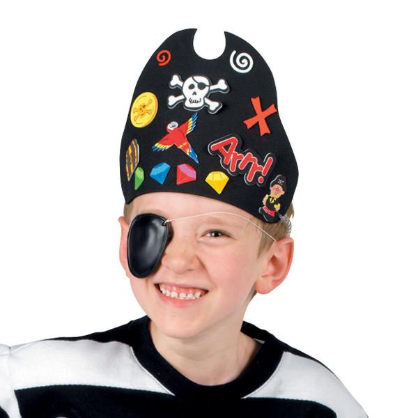 12 x Piraten Hut Kappe Mütze aus Moosgummi zum Basteln Bastelset Party Piratenparty Geburtstag Fasch
