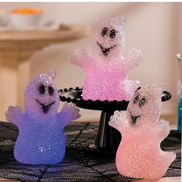 3 lustige und leuchtende Geister - toll für die Gespensterparty & Halloween
