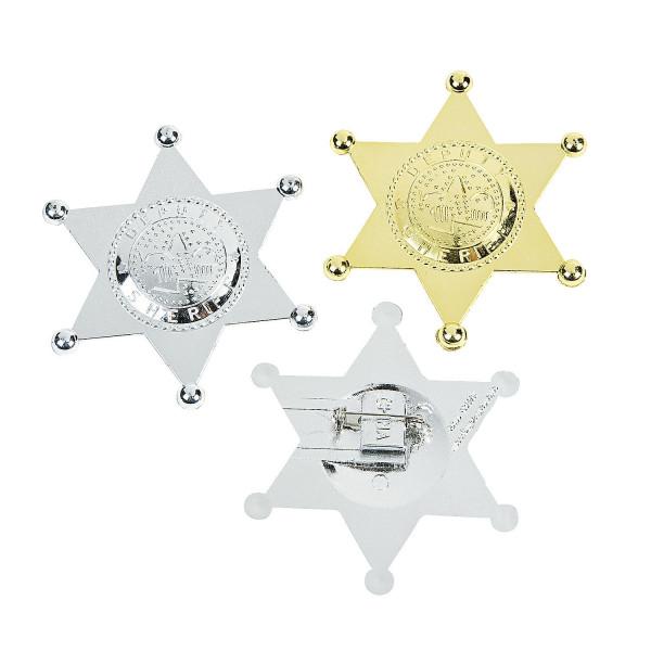 12 x Sheriffstern Sheriff Wilder Westen Cowboy Polizei Stern Mitgebsel Giveaway Fasching Karneval Ko
