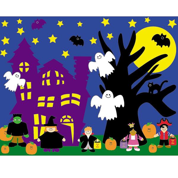 6 x Klebebild Halloween Aufkleber Sticker Gespenster Mitgebsel Beschäftigung DIY Haftspiel