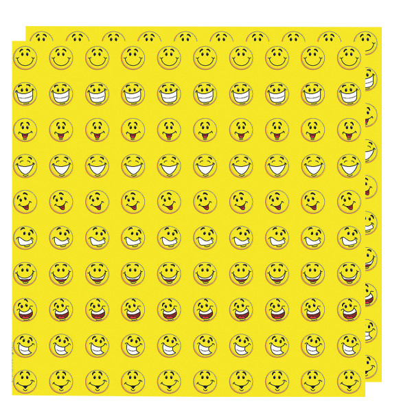 200 Smiley Belohnung Sticker (4 Bögen) für Schule Klassenarbeit Einschulung Motivation