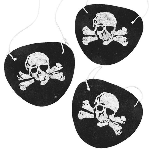 2 x Piraten Augenklappen aus Filz Piratenklappen Piraten Party Seeräuber Kindergeburtstag Piratenkla