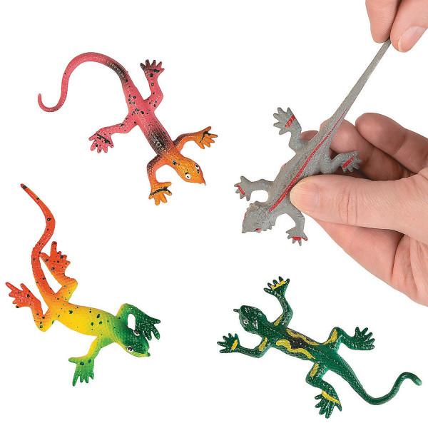 6 x Echse Lurch Salamander Gecko Gummitier Preis Party Dschungelparty Mitgebsel
