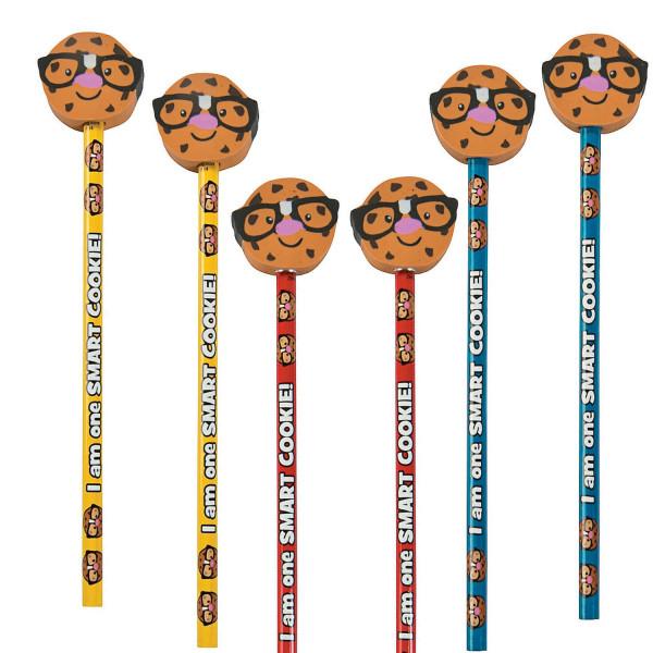 6 x Bleistift Keks Cookie Kindergeburtstag Mitgebsel Einschulung Schultüte Schule Schulanfang Krümel